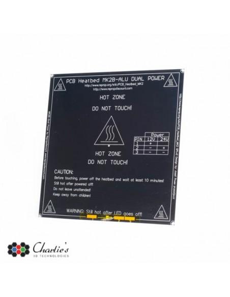 MK2b-ALU PCB Heated Bed - 12V / 24V