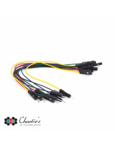 """SET AWG JUMPER WIRES - one pin MALE TO FEMALE - 5.9"""" (15 cm)"""